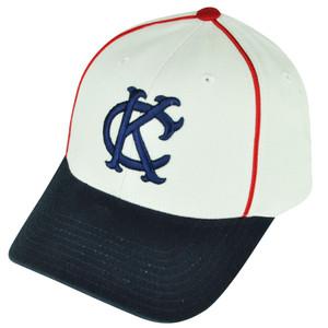 MLB American Needle Kansas City Royals Destructured Sun Buckle White Hat Cap