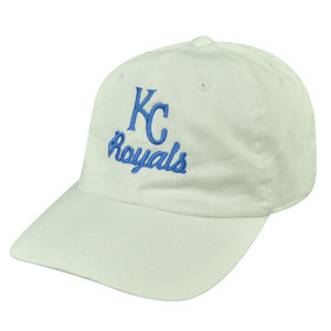 MLB American Needle Kansas KC City Royals Relaxed Fit White Sun Buckle Hat Cap