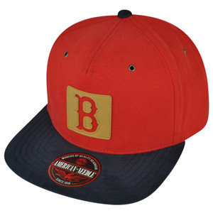 MLB American Needle Boston Red Sox Front Patch Clip Buckle Hat Cap Flat Bill