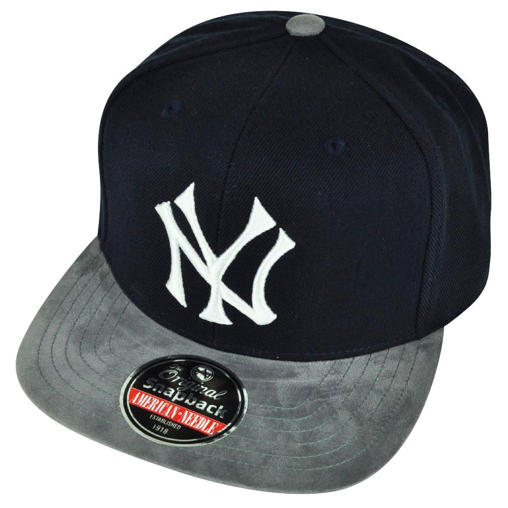 9706ac986f7 MLB American Needle New York Yankees Suede Flat Bill Clip Buckle Hat ...