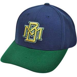MLB American Needle Milwaukee Brewers Two Tone Fitted Blue Green 7 3/4 Hat Cap