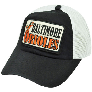 MLB American Needle Baltimore Orioles Two Toned Cotton Mesh Snapback Hat Cap