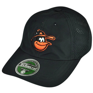 MLB American Needle Baltimore Orioles Velcro Technocrat Black Jersey Mesh Hat