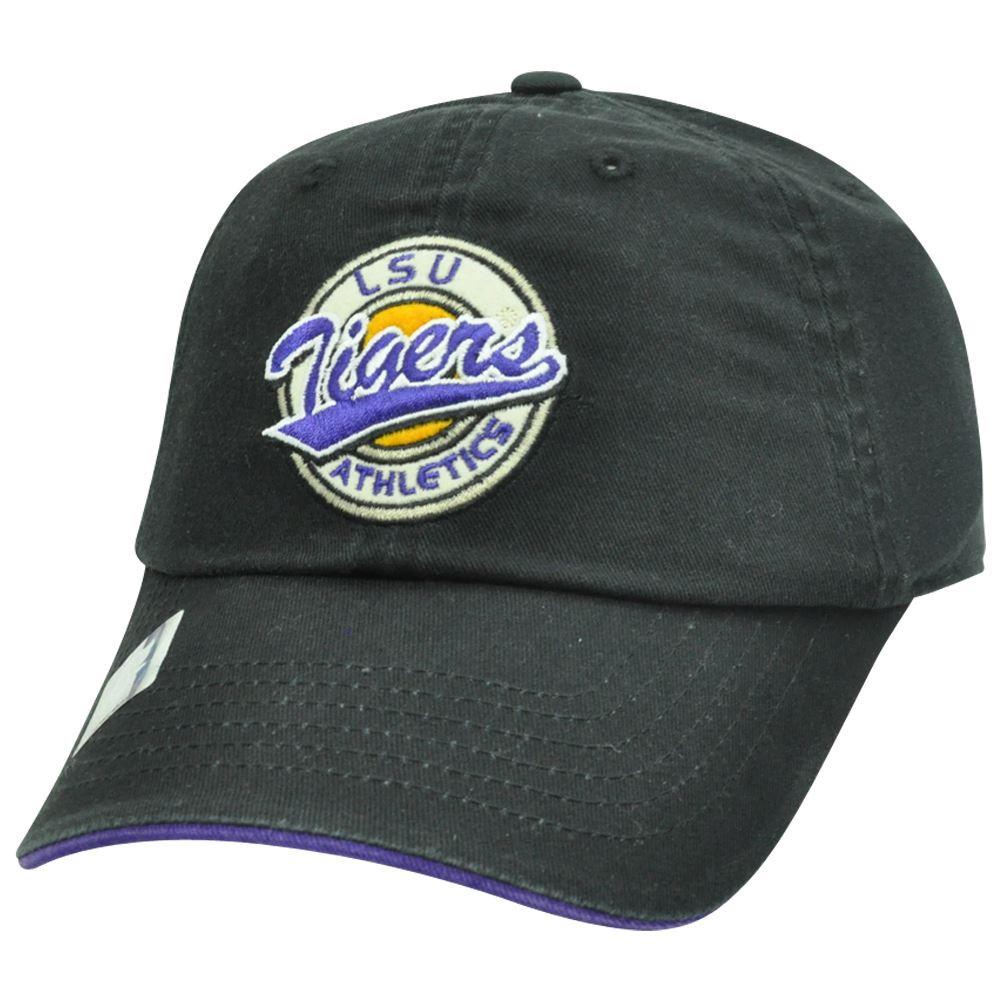 b8ed202e4df NCAA Garment Wash Circle Logo Relax Sun Buckle Felt Hat Cap LSU ...