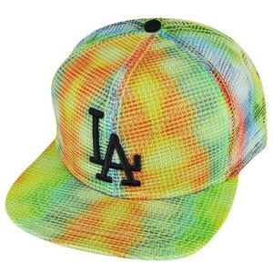 MLB American Needle Los Angeles Dodgers Rainbow Mesh Flat Bill Snapback Hat Cap