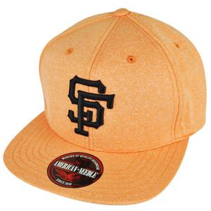 87e9f74ccb2 MLB American Needle San Francisco Giants Clip Buckle Orange Flat Bill Hat  Cap