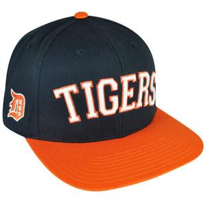 MLB American Needle Detroit Lions Flat Bill Snapback Hat Cap Navy Adjustable