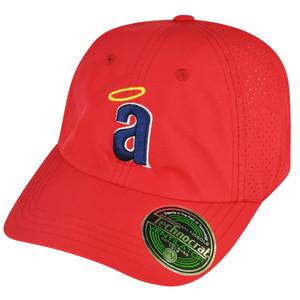 MLB American Needle Los Angeles Angels of Anaheim Velcro Ventilator Red Hat Cap