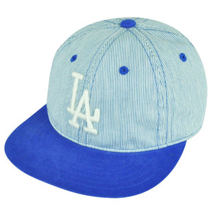 MLB American Needle Los Angeles Dodgers Leather Belt Buckle Flexible Hat Cap