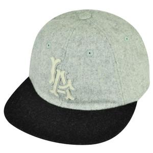MLB American Needle Angeles Dodgers Belt Buckle Felt Wool Flexible Visor Hat Cap