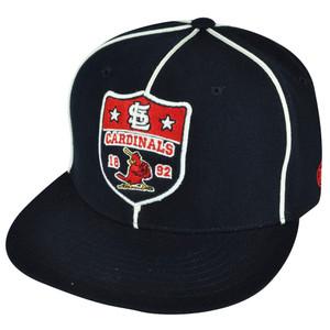 MLB American Needle Saint Louis Cardinals Navy Fitted 7 1/4 Flat Bill Hat Cap