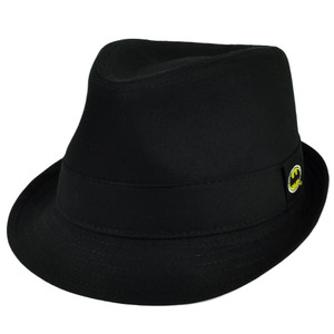 Batman Cartoon Fedora Black Super Hero Small Trilby Gangster Hat Diamond Top