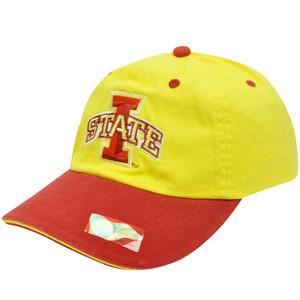 NCAA OFFICIAL IOWA STATE CYCLONES YELLOW CAP HAT ADJ
