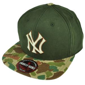 MLB American Needle New York Yankees Camouflage Clip Buckle Flat Bill Hat Cap