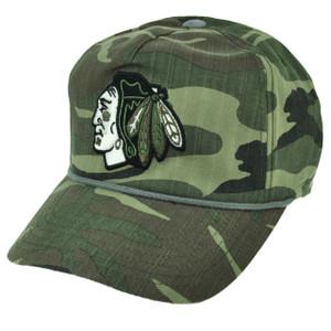 NHL American Needle Chicago Blackhawks Camouflage Camo Sun Buckle Hat Cap Sports