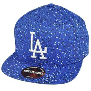 MLB American Needle Los Angeles Dodgers Paint Drops Clip Buckle Blue Hat Cap