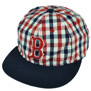 MLB American Needle Boston Red Sox Plaid Checkered Belt Buckle Hat Cap Relaxed