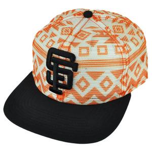 MLB American Needle San Francisco Giants Aztec Mesh Snapback Hat Cap Flat Bill