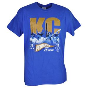 MLB Kansas City Royals KC Pennant Fever Tshirt Tee Mens Adult Short Sleeve Blue