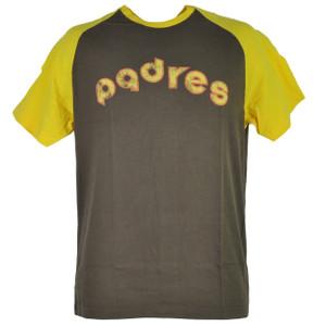 MLB San Diego Padres Short Sleeve Brown Mens Adult Tshirt Tee Paratrooper Cotton