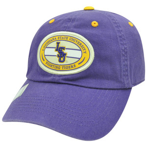 84aa7d568bdb5 NCAA LSU Louisiana Fighting Tigers Garment Wash Relax Purple Sun Buckle Hat  Cap
