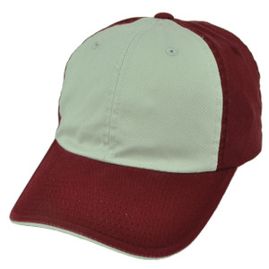 American Needle Burgundy Beige Relaxed Hat Cap Blank Plain Solid Color Sun Buckle