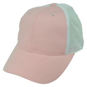 American Needle Pink Mesh Blank Plain Solid Color Velcro Hat Cap Womens Ladies