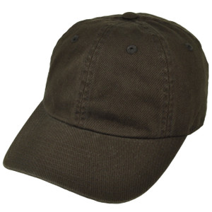 American Needle Brown Relaxed Hat Cap Blank Plain Solid Color Velcro Classic