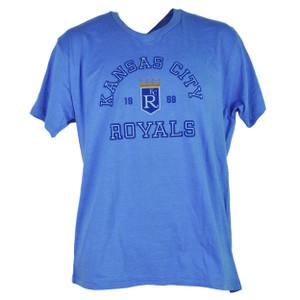MLB Kansas City Royals KC 1969 Mens Adult Large V Neck Short Sleeve Tshirt Tee