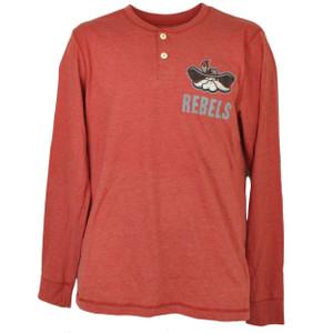 NCAA UNLV Las Vegas Rebels Long Sleeve Tshirt Tee Mens Medium Red Crew Neck