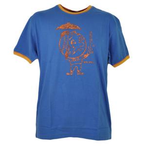 MLB New York Mets Distressed Medium Blue Tshirt Tee Short Sleeve Crew Neck Mens