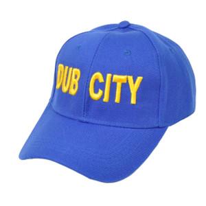 NBA Golden State Warriors Dub City Velcro Blue Adjustable Hat Cap Curved Bill