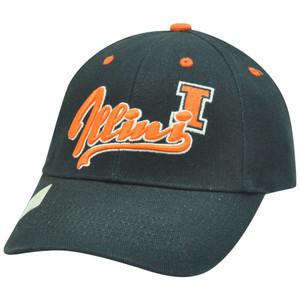 NCAA Illinois Fighting Illini Cotton Adjustable Velcro Script Construct Hat Cap