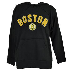 NHL Boston Bruins Hoodie Hood Black Sweater Pullover Mens Adult Winter Sports