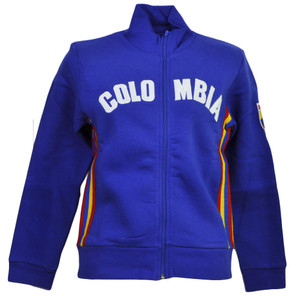 Colombia Country BB London Track Jacket Womens Ladies Fleece Zipper Sweater Blue