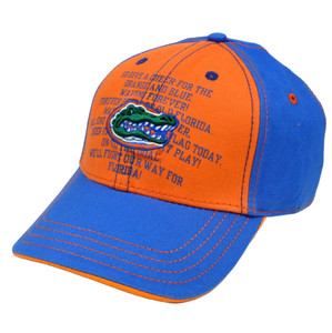 NCAA Florida Gators Fight Song Chino Hat Cap Construct Velcro Adjustable Curved
