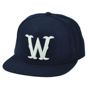 758b00e4d1d RWTW Logo Roll With The Winners Snapback Flat Bill Navy Blue Hat Cap Brand  Wining
