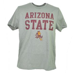 NCAA Arizona Sun Devils Tshirt Tee Short Sleeve Gray Crew Neck Mens Adult Sports