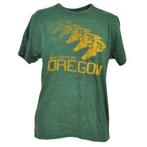 NCAA Oregon Ducks Tshirt Tee Green Short Sleeve Crew Neck Men Repeat Logo Sports