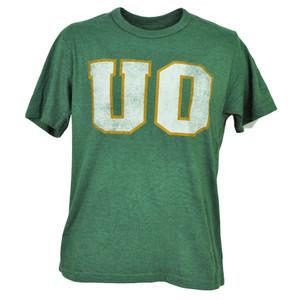 NCAA Oregon Ducks Distressed Tshirt Tee Short Sleeve Green Mens Sports Crew Neck