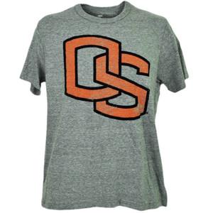 NCAA Oregon State Beavers Felt Logo Gray Tshirt Tee Mens Short Sleeve Sports