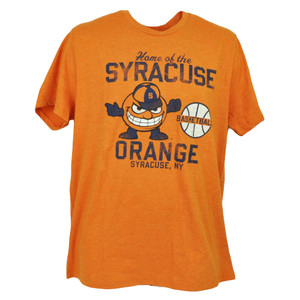NCAA Syracuse Orange Basketball Short Sleeve Tshirt Tee Mens Adult Crew Neck