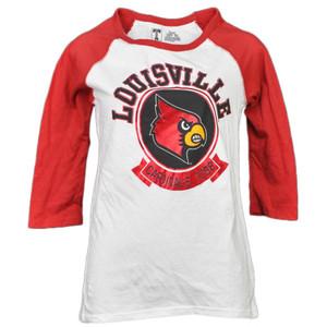 NCAA Louisville Cardinals 1798 Foil Logo Mid Sleeve Tshirt Tee Womens Adult