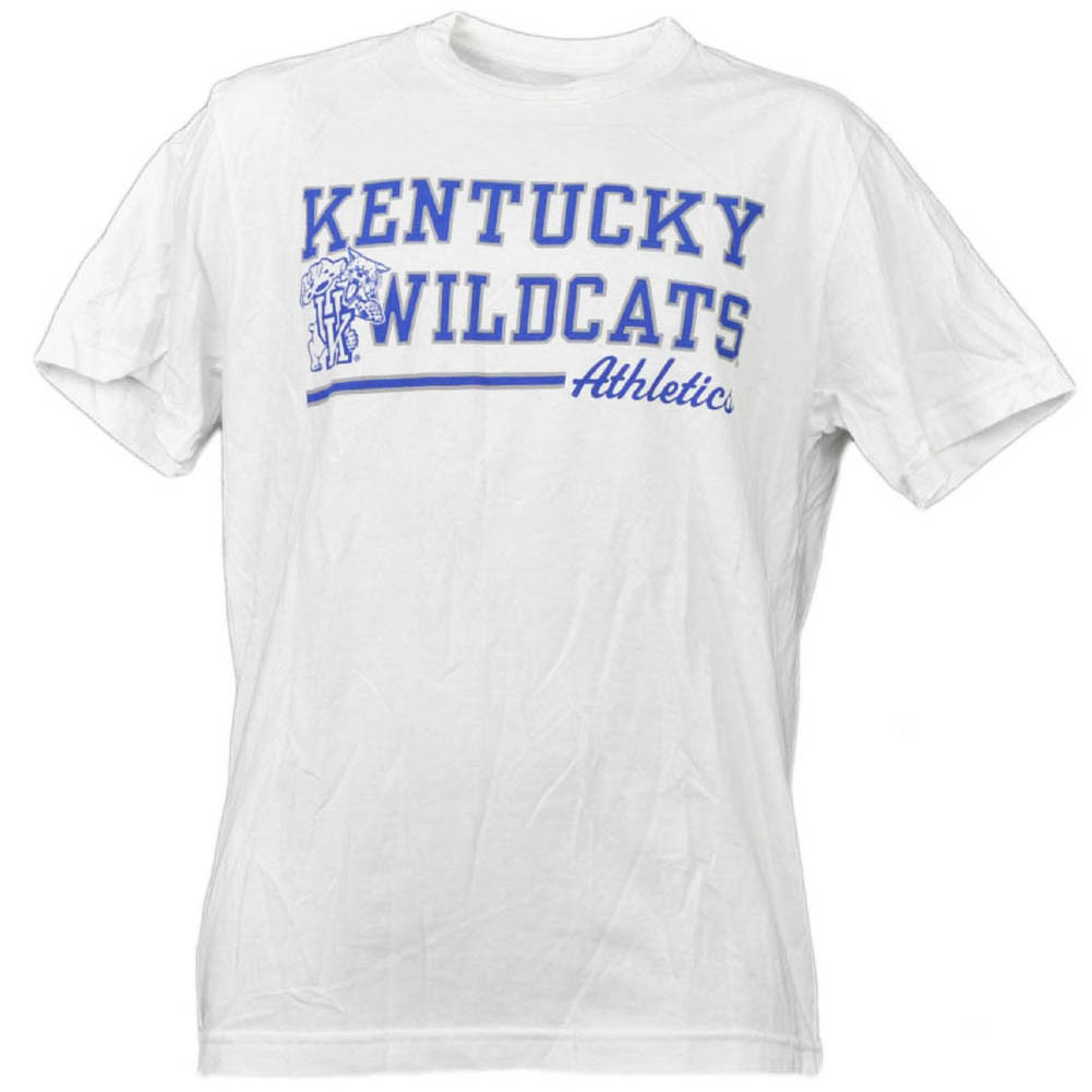 6d5dcc6e44888 NCAA Kentucky Wildcats White Underline Logo Mens Tshirt Tee Short ...