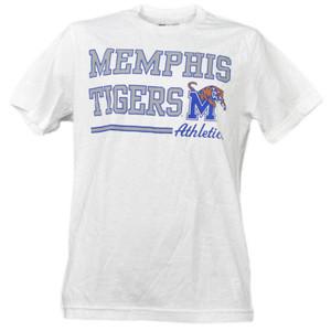 NCAA Memphis Tigers White Underline Logo Mens Tshirt Tee Short Sleeve Sports
