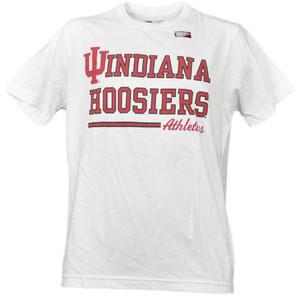 NCAA Indiana Hoosiers White Underline Logo Mens Tshirt Tee Short Sleeve Sports