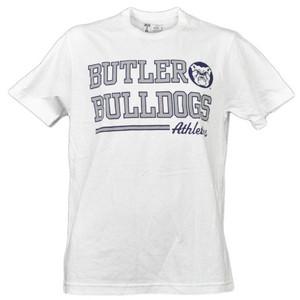 NCAA Butler Bulldogs White Underline Logo Mens Tshirt Tee Short Sleeve Sports