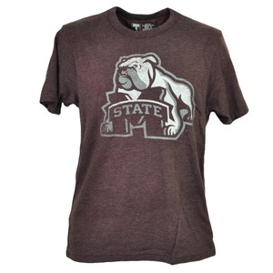 NCAA Mississippi State Bulldogs Burgundy Tshirt Tee Mens Adult Short Sleeve Sport