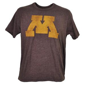 NCAA Minnesota Golden Gophers Distressed Logo Mens Tshirt Tee Burgundy Sports
