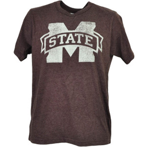 NCAA Mississippi State Bulldogs Distressed Logo Tshirt Tee Mens Short Sleeve